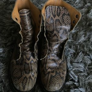Vintage Doc Dr Martens boots snakeskin UK 5 US 7